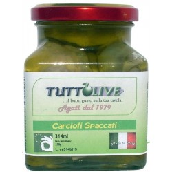 Carciofi spaccati vaso da ml 314